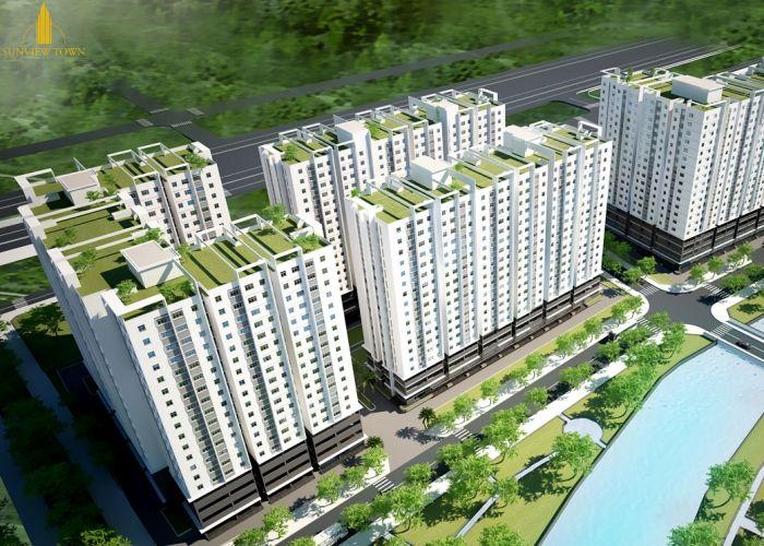 Toàn cảnhdự án căn hộ chung cưSunview Town