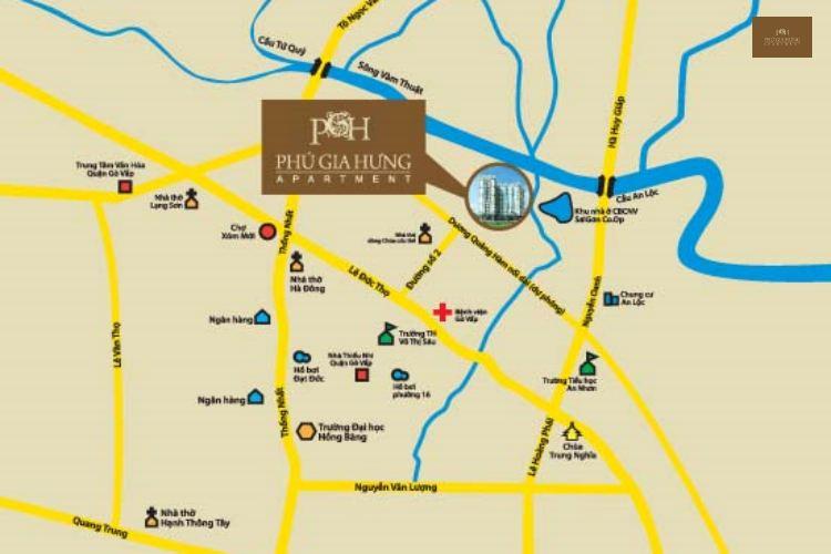 Vị trí khu căn hộ Phú Gia Hưng Apartment