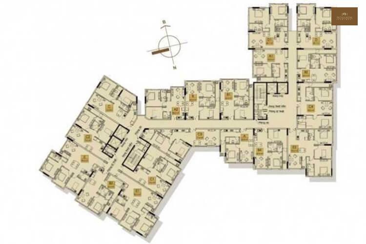 Mặt bằng tổng thể khu chung cư Phú Gia Hưng Apartment