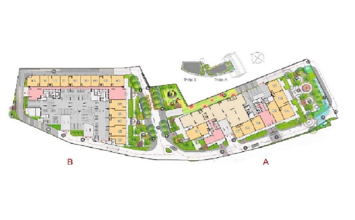 Mặt bằng tổng thể dự án căn hộ Đất Xanh Homes CityView Bình Dương