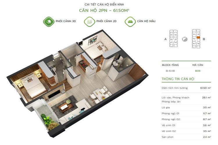 Thiết kế căn hộ tại dự án Luxstar